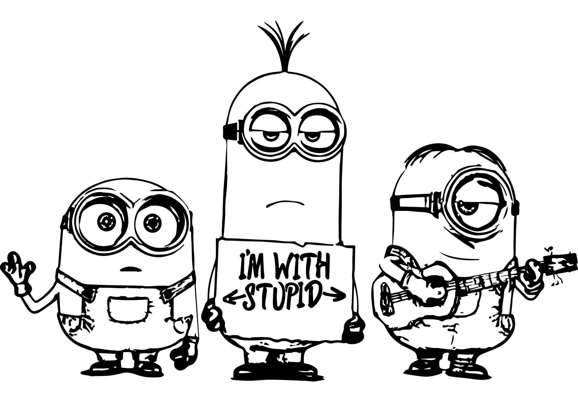 Minions Coloring Pages Minions To Color For Children Minions Kids Coloring Pages