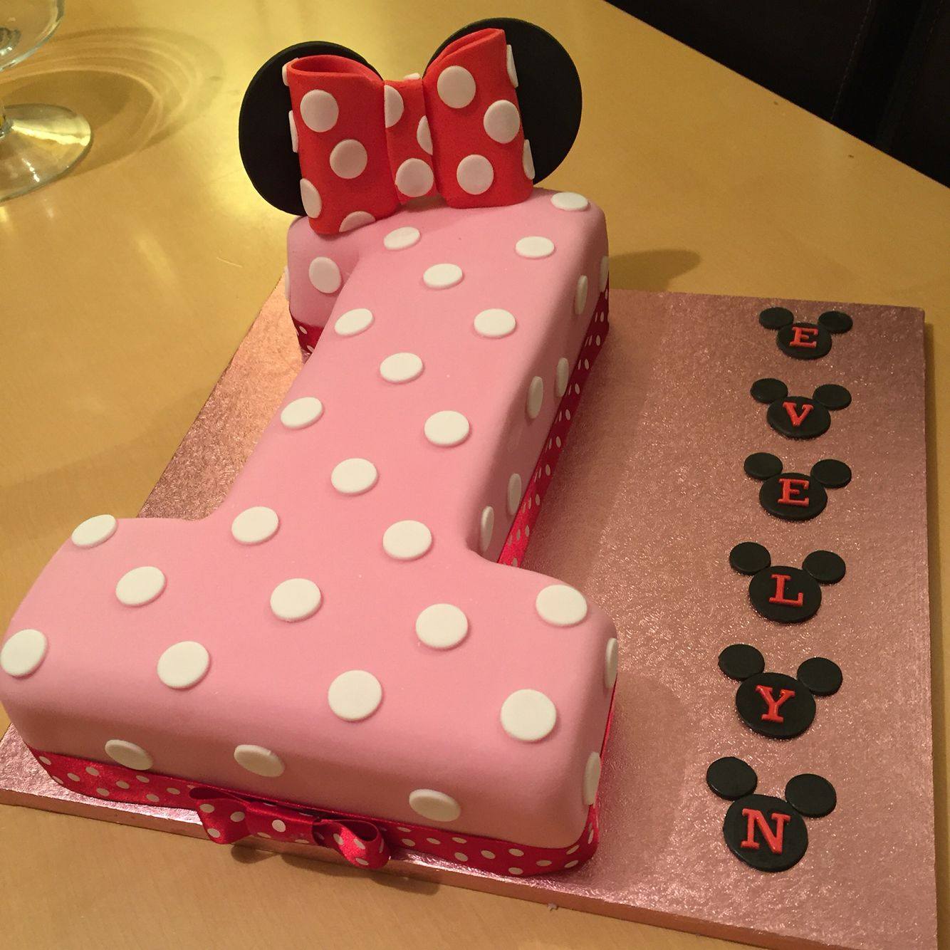 30 Awesome Image of Minnie Mouse 1St Birthday Cake