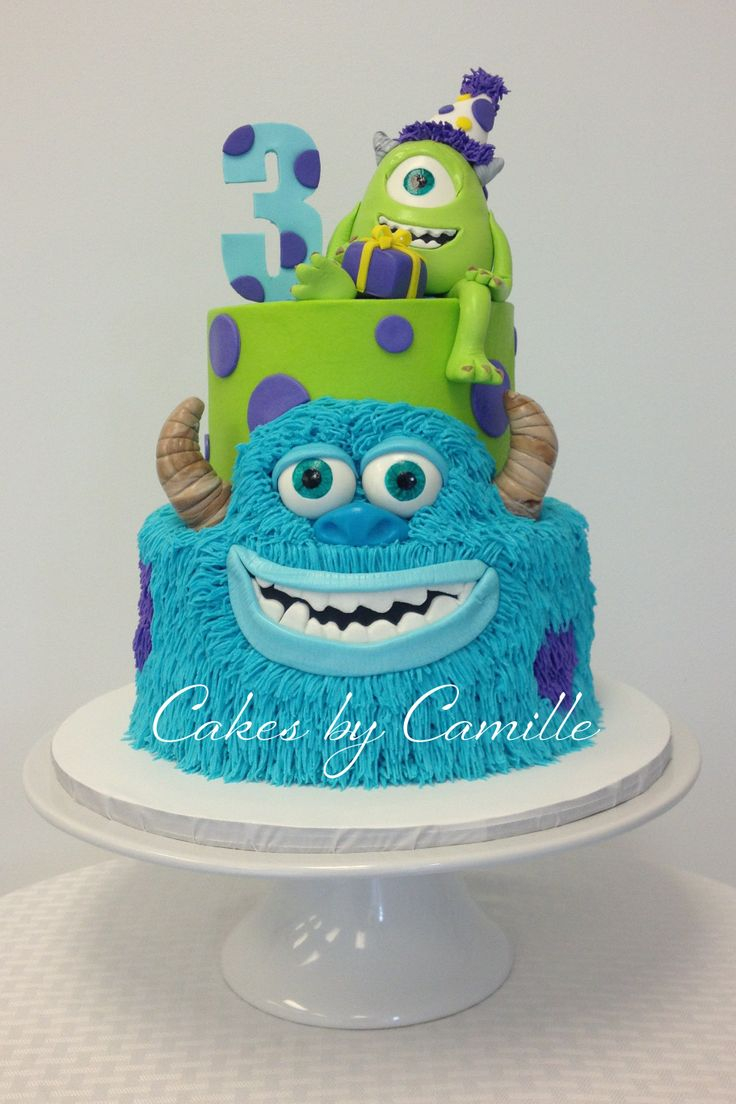 Monster Birthday Cake 12 Sully Monsters Inc Birthday Cakes Photo Sully Monster Birthday