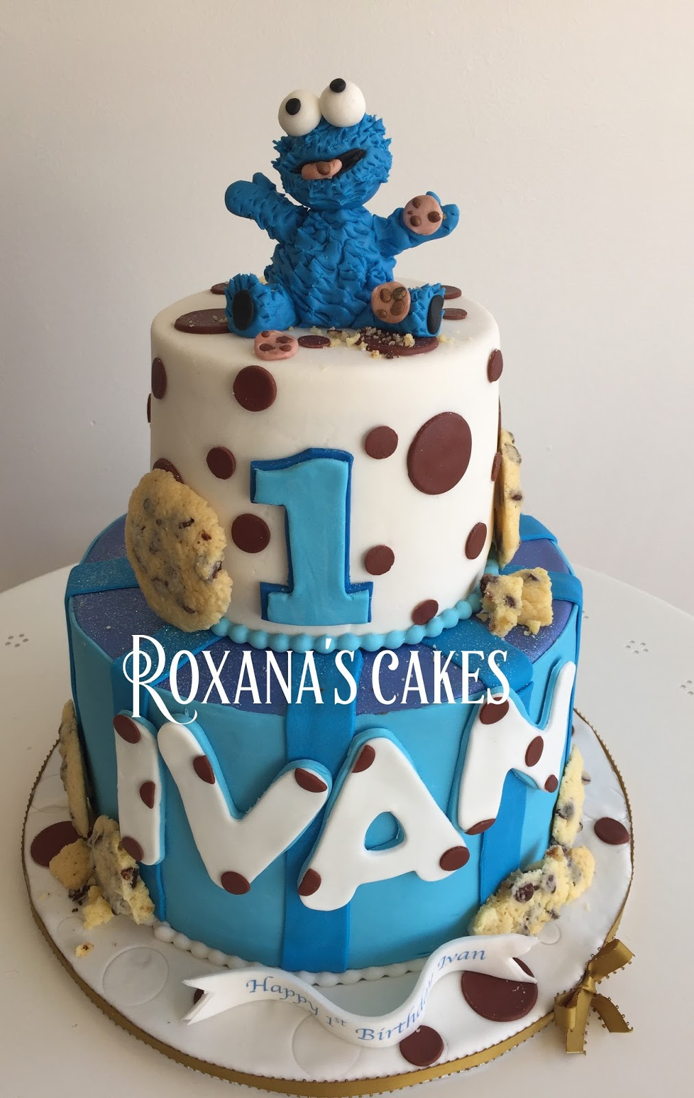 Monster Birthday Cake Baking With Roxanas Cakes Cookie Monster 1st Birthday Cake
