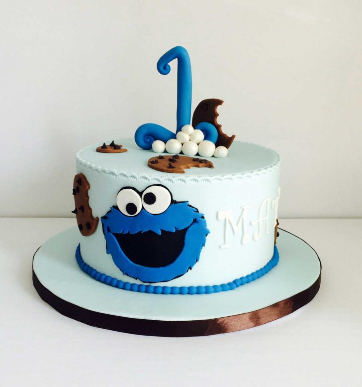 Monster Birthday Cake Cookie Monster Inspired Cake For One Year Old Boy Ottawa Custom