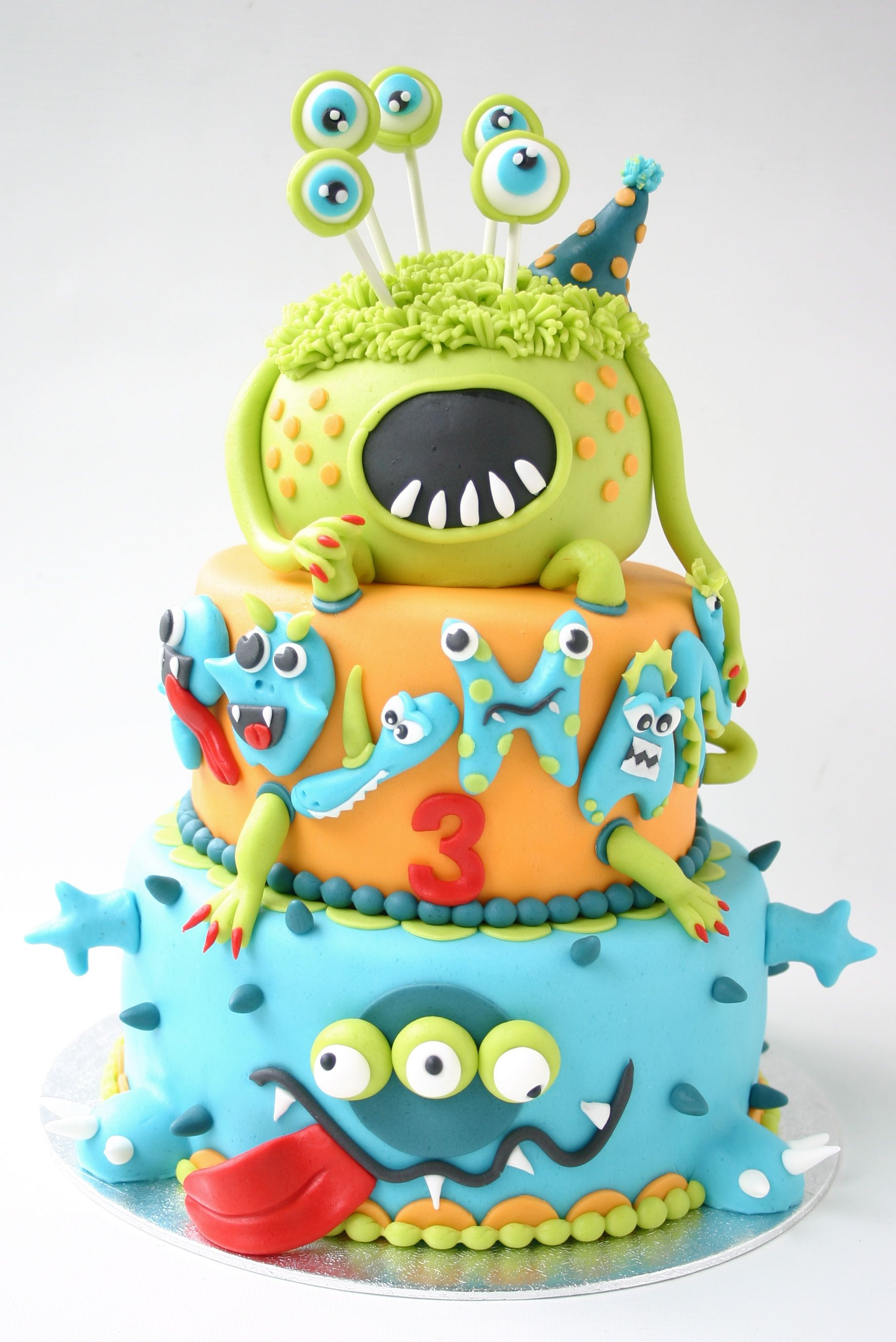 Monster Birthday Cake Cute Monster Cake A Monster For A 3 Year Old Must Be Not So Scary