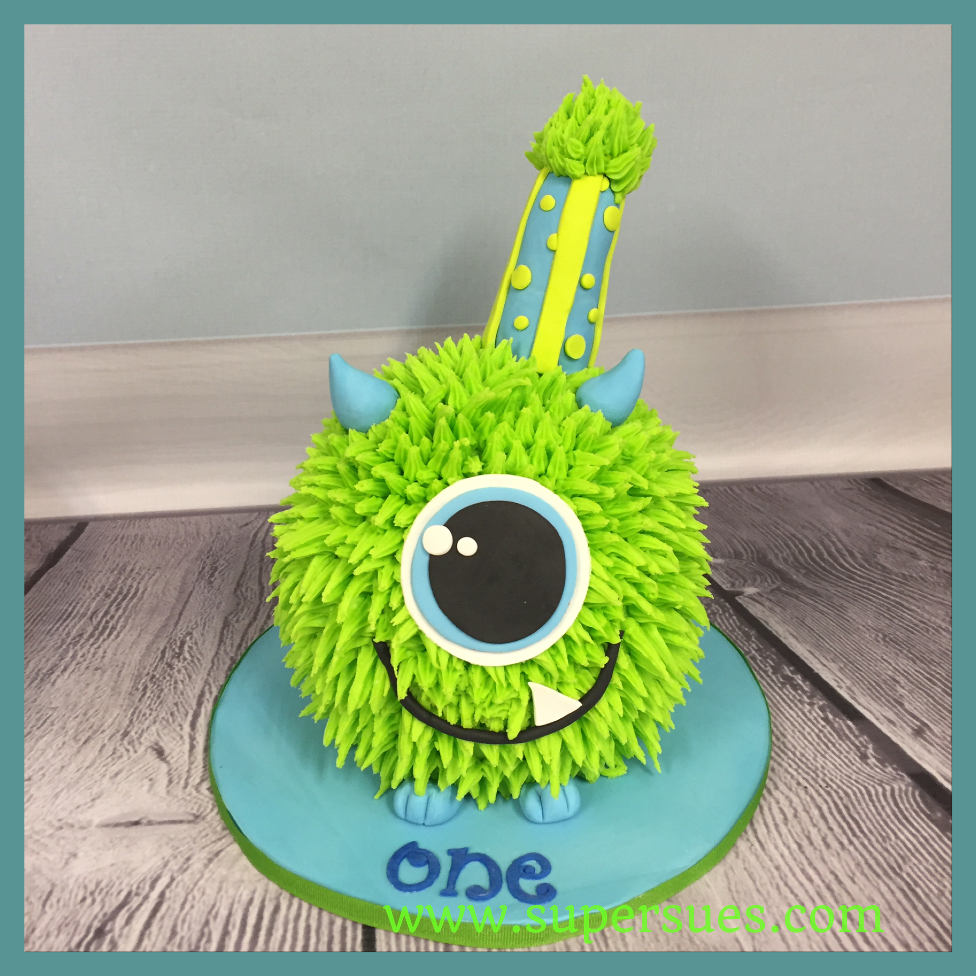 Monster Birthday Cake Cute Monster Smash Cake For A First Birthday Smash Cakes In 2018