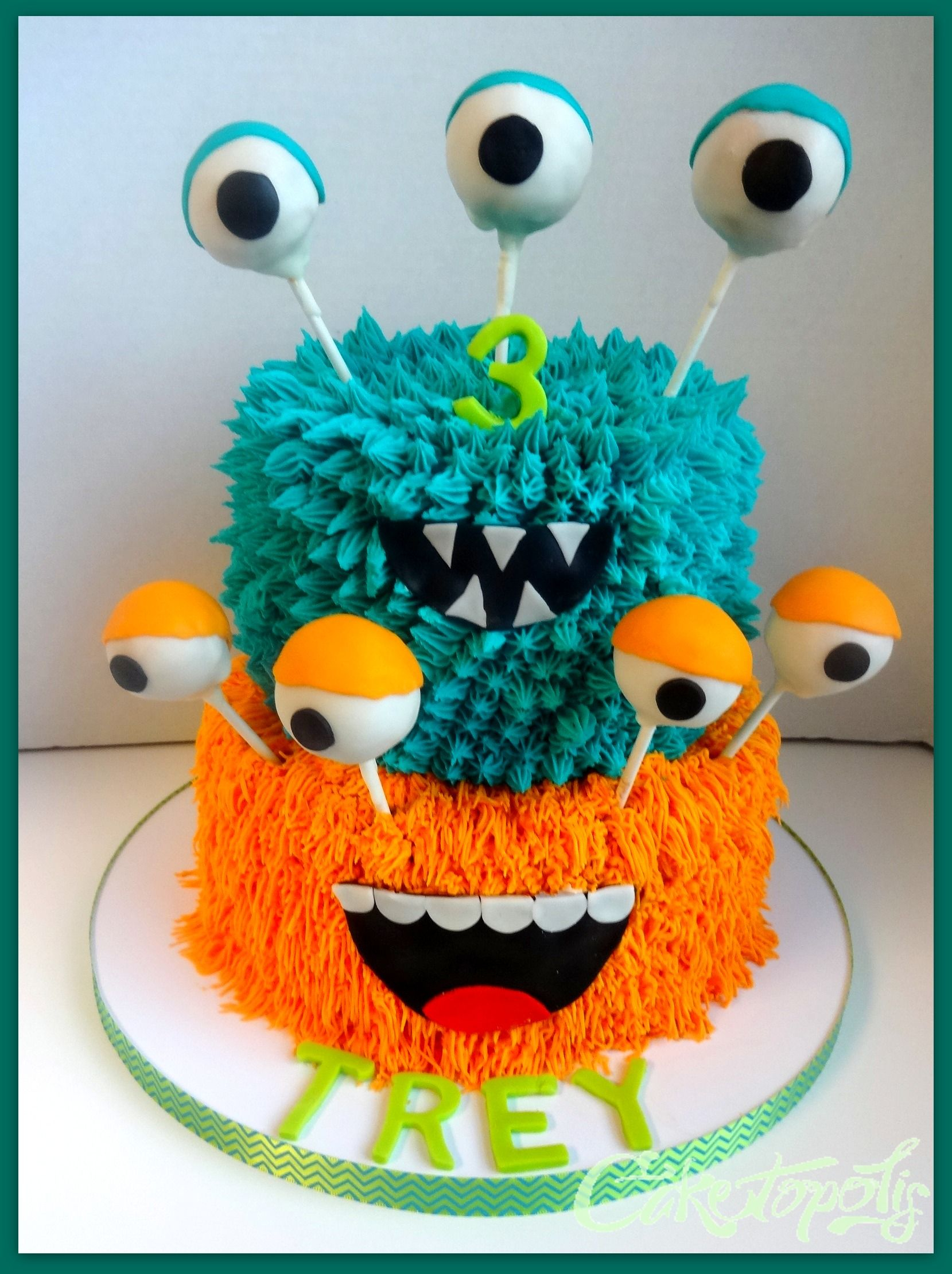 35+ Best Photo of Monster Birthday Cake