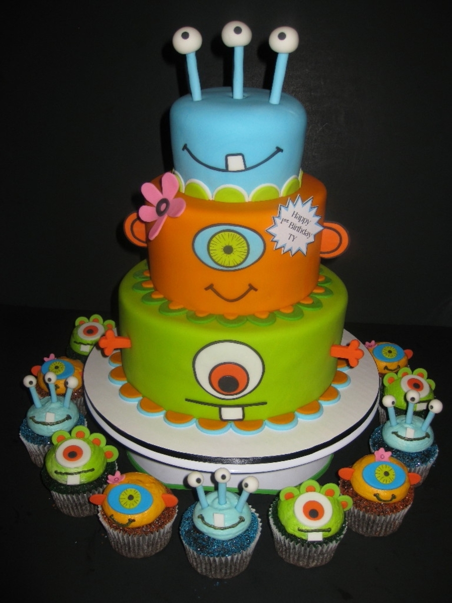 Monster Birthday Cake Monsters Birthday Cake Cupcakes Cakecentral