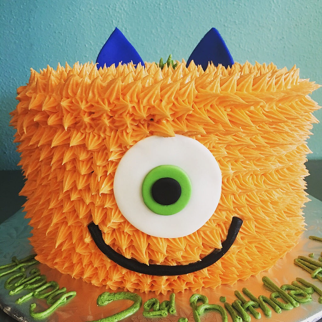 Monster Birthday Cake Orange Shaggy Monster Birthday Cake Delicately Delicious Flickr