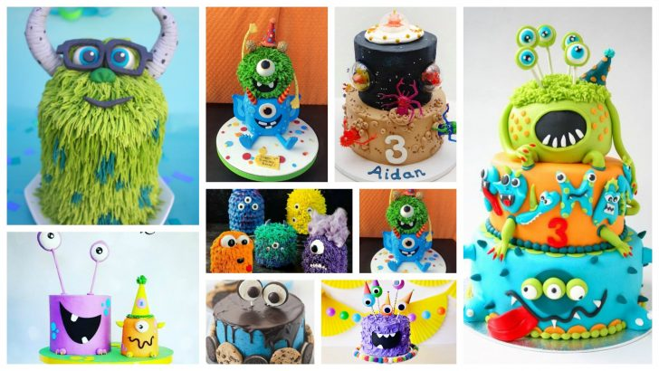 Monster Birthday Cake Ultimate Monster Birthday Cake Inspiration Board 13 Amazing Cakes