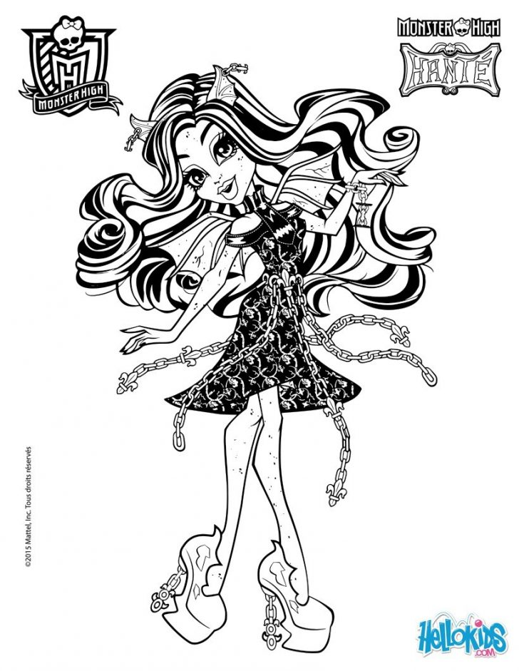 Monster High Coloring Page 22 Monster High Coloring Pages To Print For Free Gallery Coloring