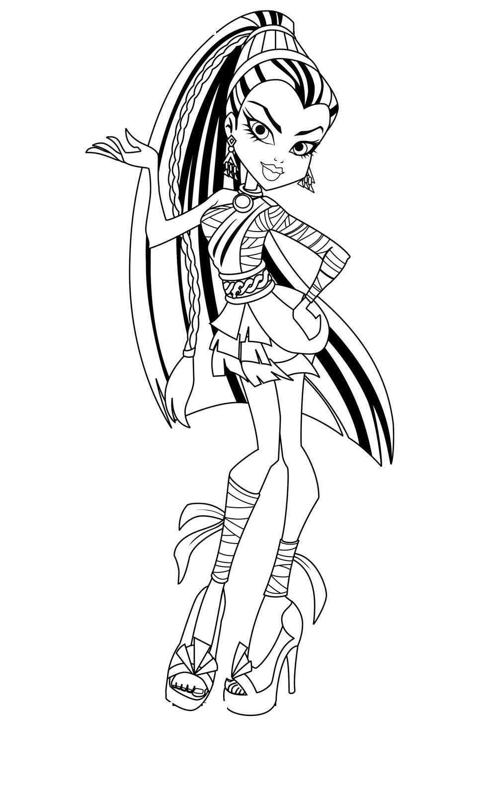 Monster High Coloring Page Coloring Page Monster High Coloring Book Pages Remarkable Inside
