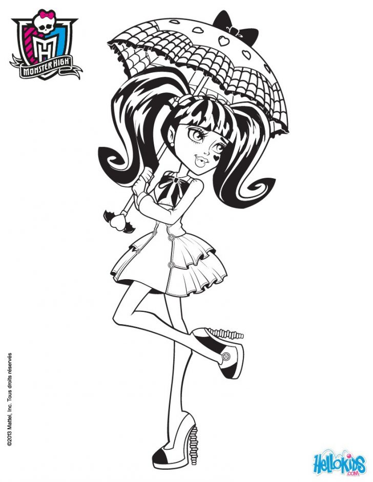 Monster High Coloring Page Monster High Coloring Pages 72 Online Toy Dolls Printables For Girls