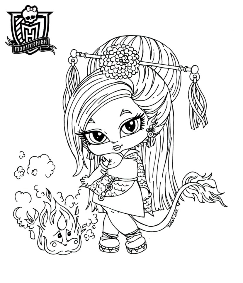 Monster High Coloring Page Monster High Coloring Pages Freaky Fusion Dracubecca