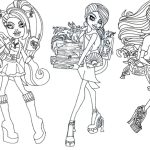 Monster High Coloring Page Monster High Coloring Pages To Print Lovely Monster High Coloring