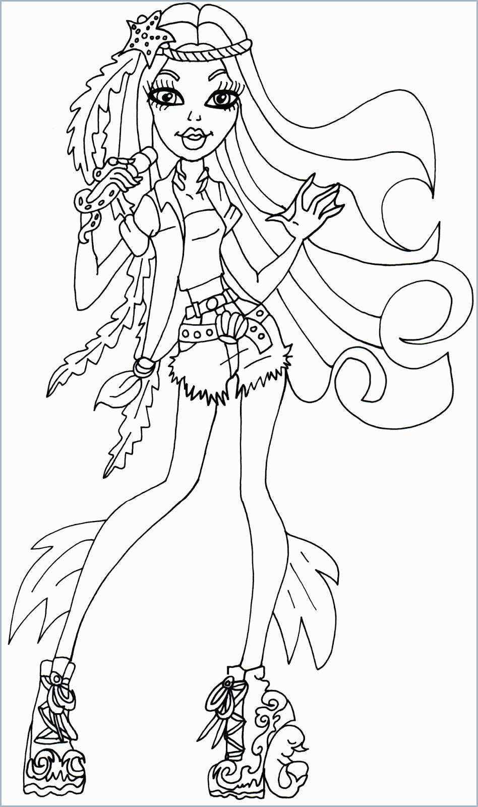 Monster High Coloring Page Monster High Free Printable Coloring Pages 29907