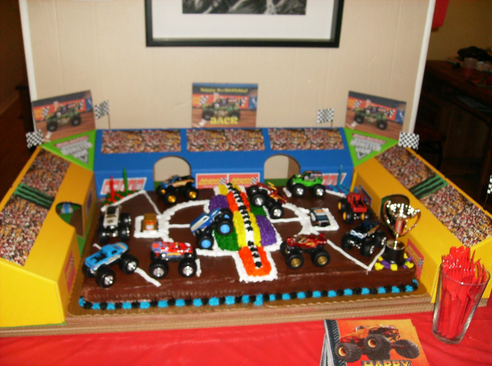 Monster Jam Birthday Cake Monster Jam Birthday Cake Ideas Monster Truck Party Supplies