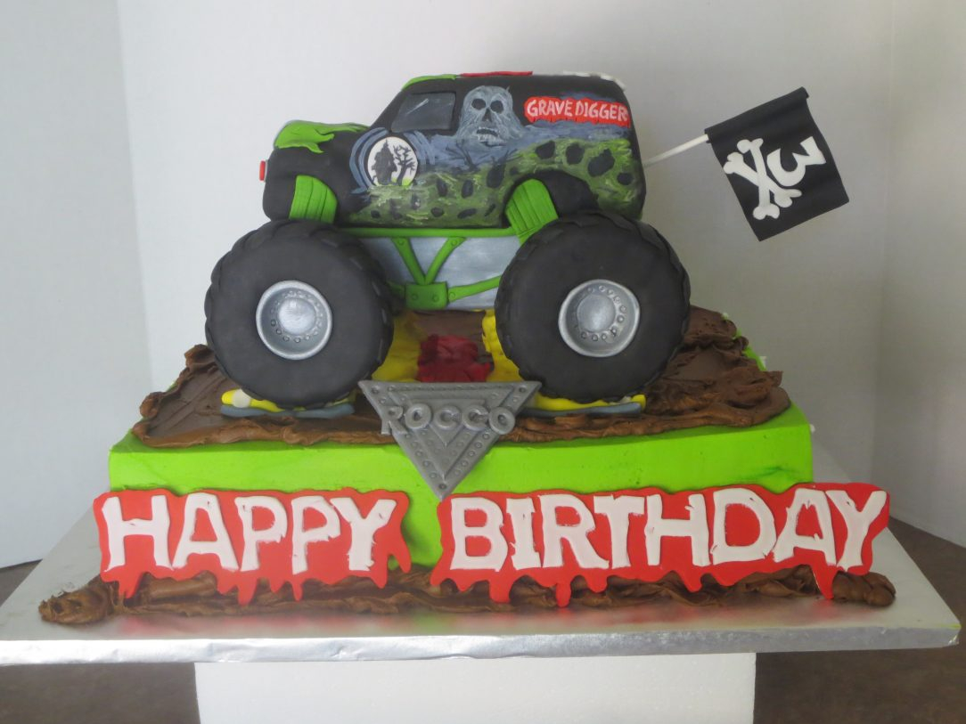 Monster Jam Birthday Cake Monster Jam Birthday Party Food Ideas City Supplies Envelopes Etsy