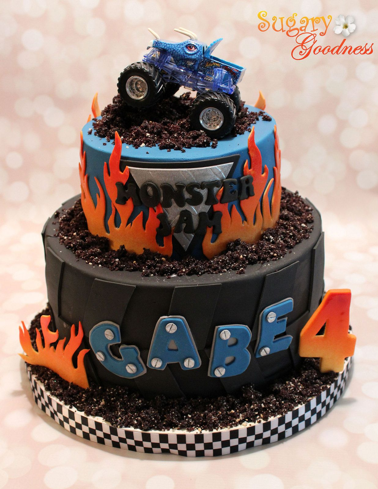 Monster Jam Birthday Cake Monster Jam Cake Transportation Cake Monster Jam Cake Monster