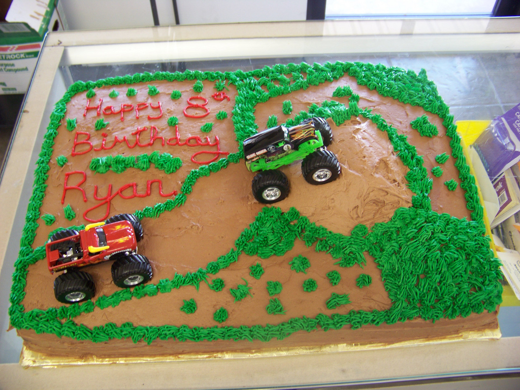 Monster Jam Birthday Cake Monster Truck Birthday Cake A 12 Sheet Chocolate Cake Cov Flickr