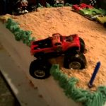 Monster Jam Birthday Cake Monster Truck Birthday Cake Blakes 5th B Day Youtube