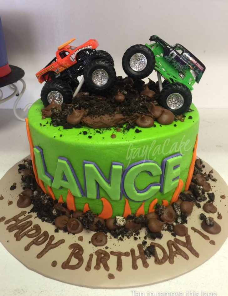 Monster Jam Birthday Cake Monster Truck Birthday Cake Custom Cakes Pinterest Monster