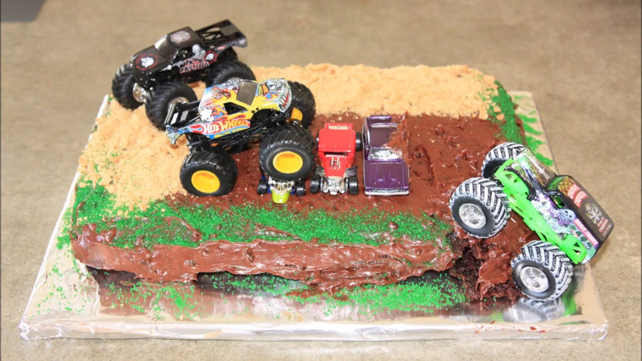 Monster Jam Birthday Cake Monster Truck Birthday Cake Youtube