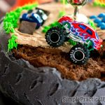 Monster Jam Birthday Cake Monster Truck Birthday Party Simple Practical Beautiful