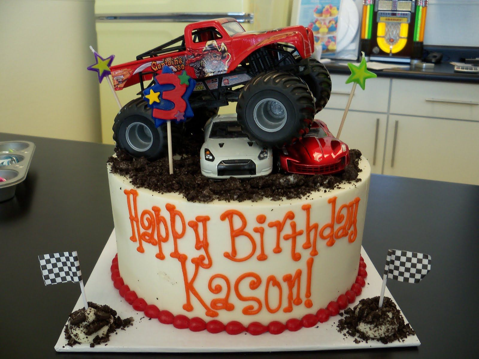 Monster Jam Birthday Cake Monster Truck Cake Decorations Kid Stuff Pinterest Truck Cakes