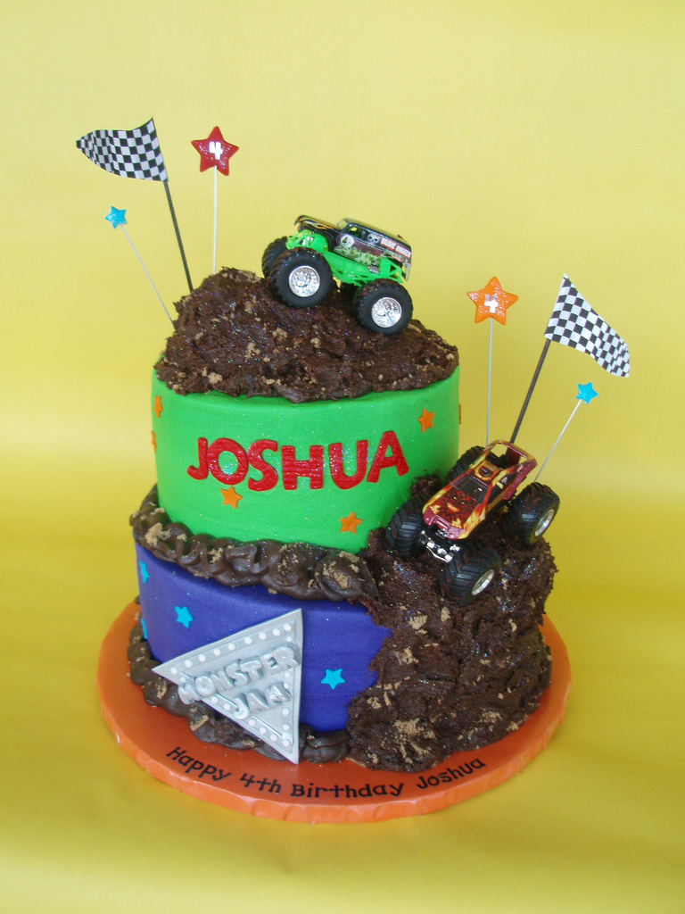 Monster Jam Birthday Cake Monster Truck Jam Birthday Cake Four Year Old Joshua Celeb Flickr