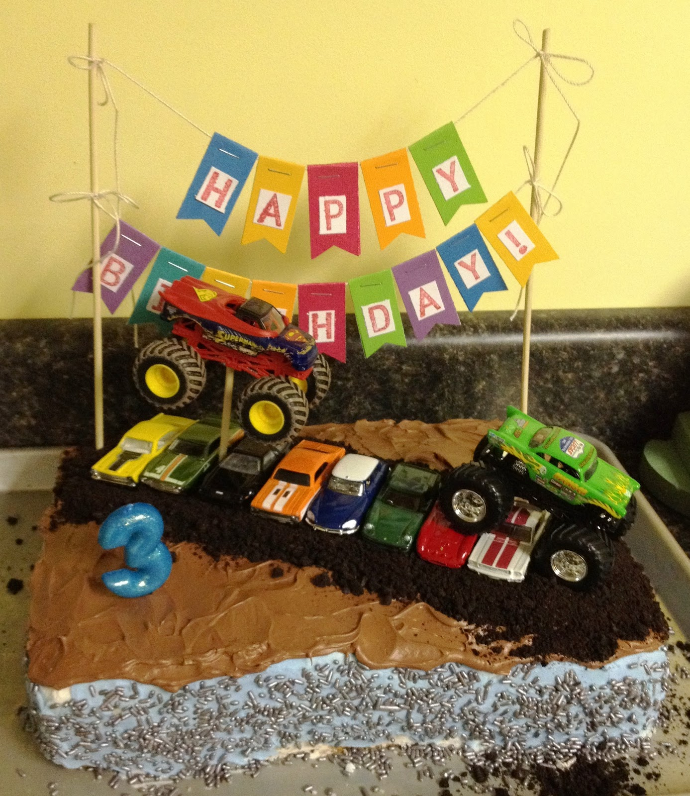 Monster Jam Birthday Cake Whimsikel Monster Truck Birthday Cake