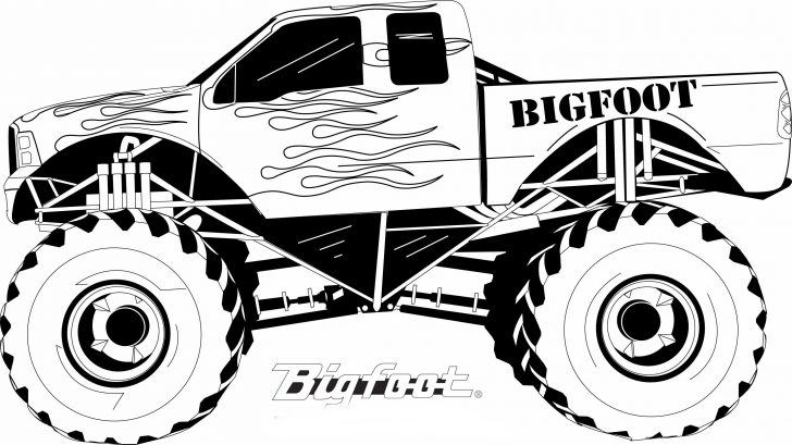 Monster Jam Coloring Pages Coloring Page 42 Fabulous Truck Coloring Sheets