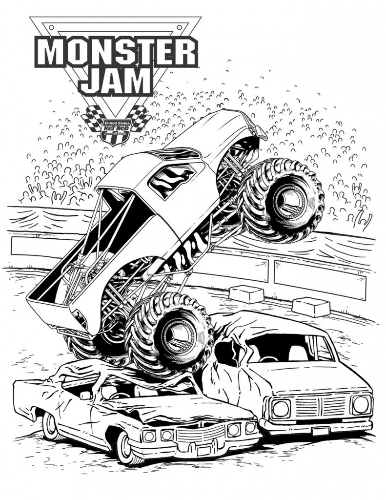 Monster Jam Coloring Pages Monster Trucks Coloring Pages 27248 Bestofcoloring