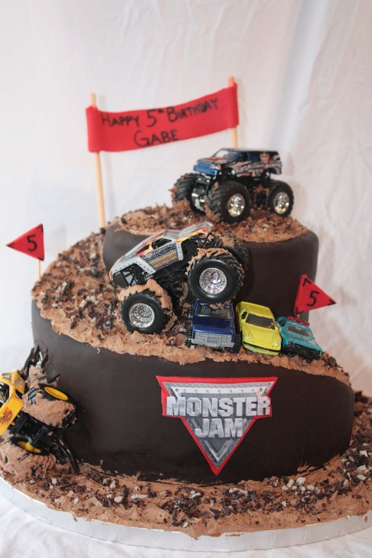 25+ Excellent Photo of Monster Truck Birthday Cakes