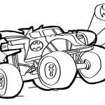 Monster Truck Coloring Page Batman Monster Truck Coloring Pages Watch How To Draw Batman