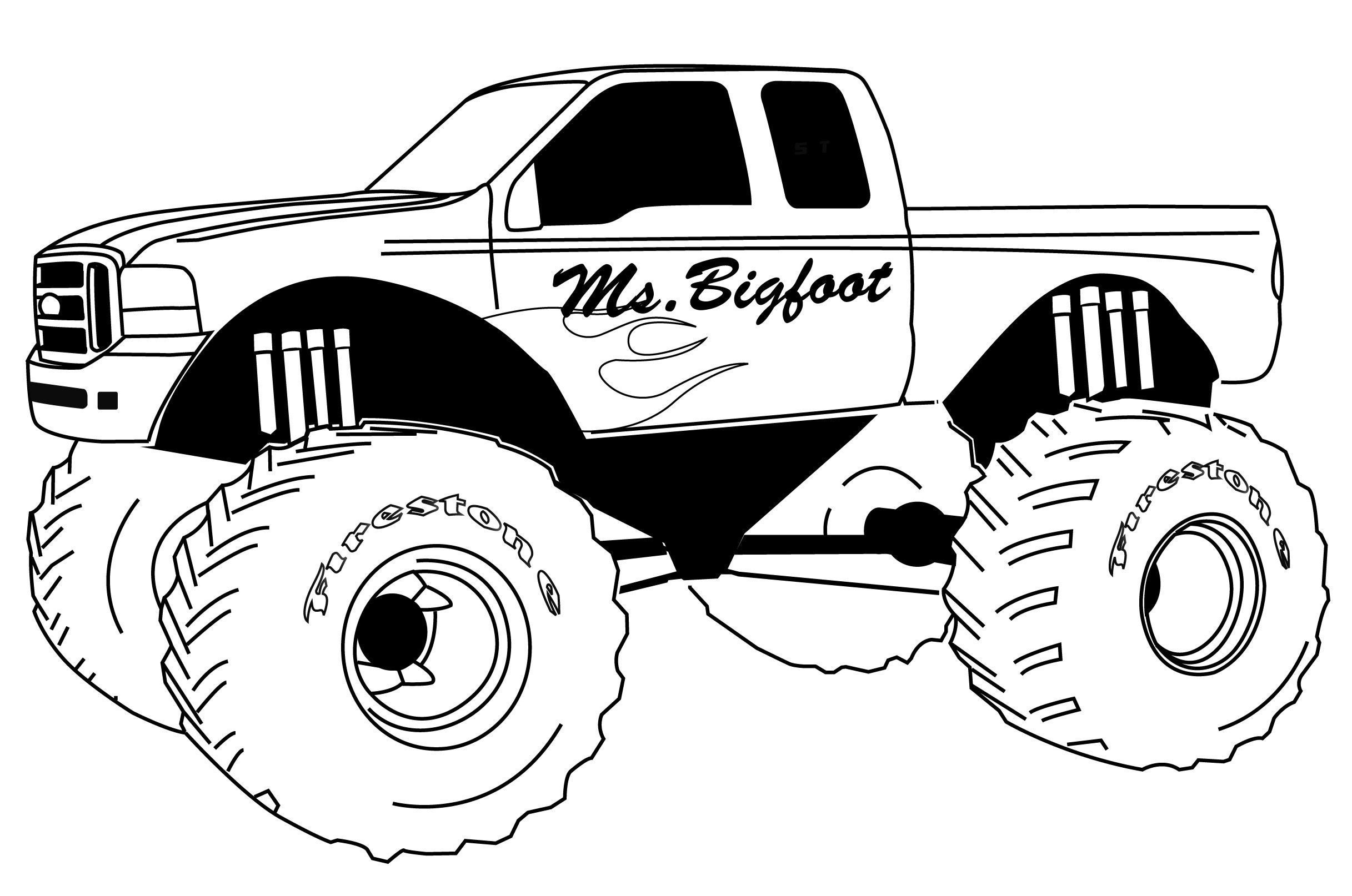 Monster Truck Coloring Page Free Printable Monster Truck Coloring Pages For Kids