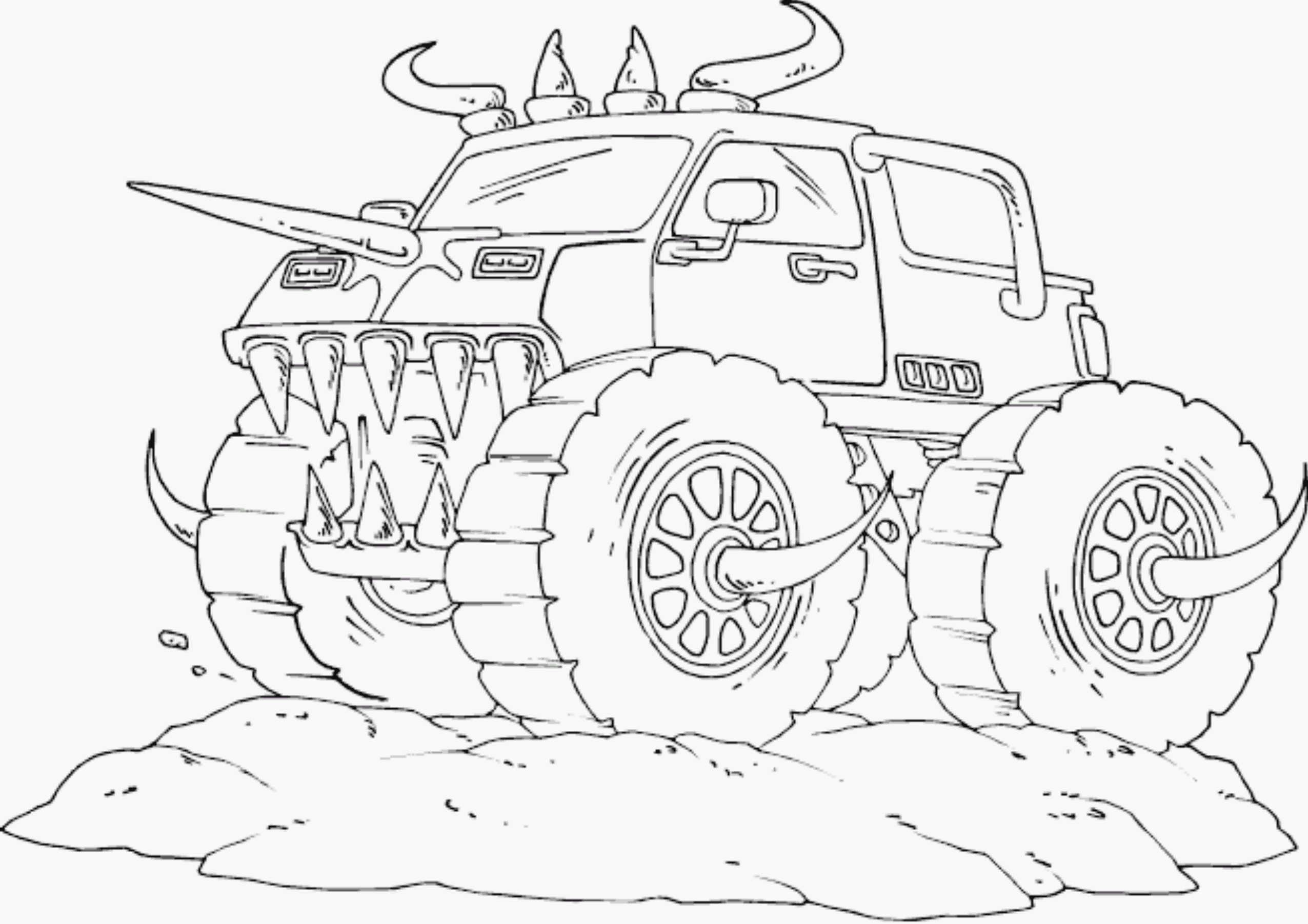 Monster Truck Coloring Page Monster Jam Truck Coloring Pages Printable Printable Kids