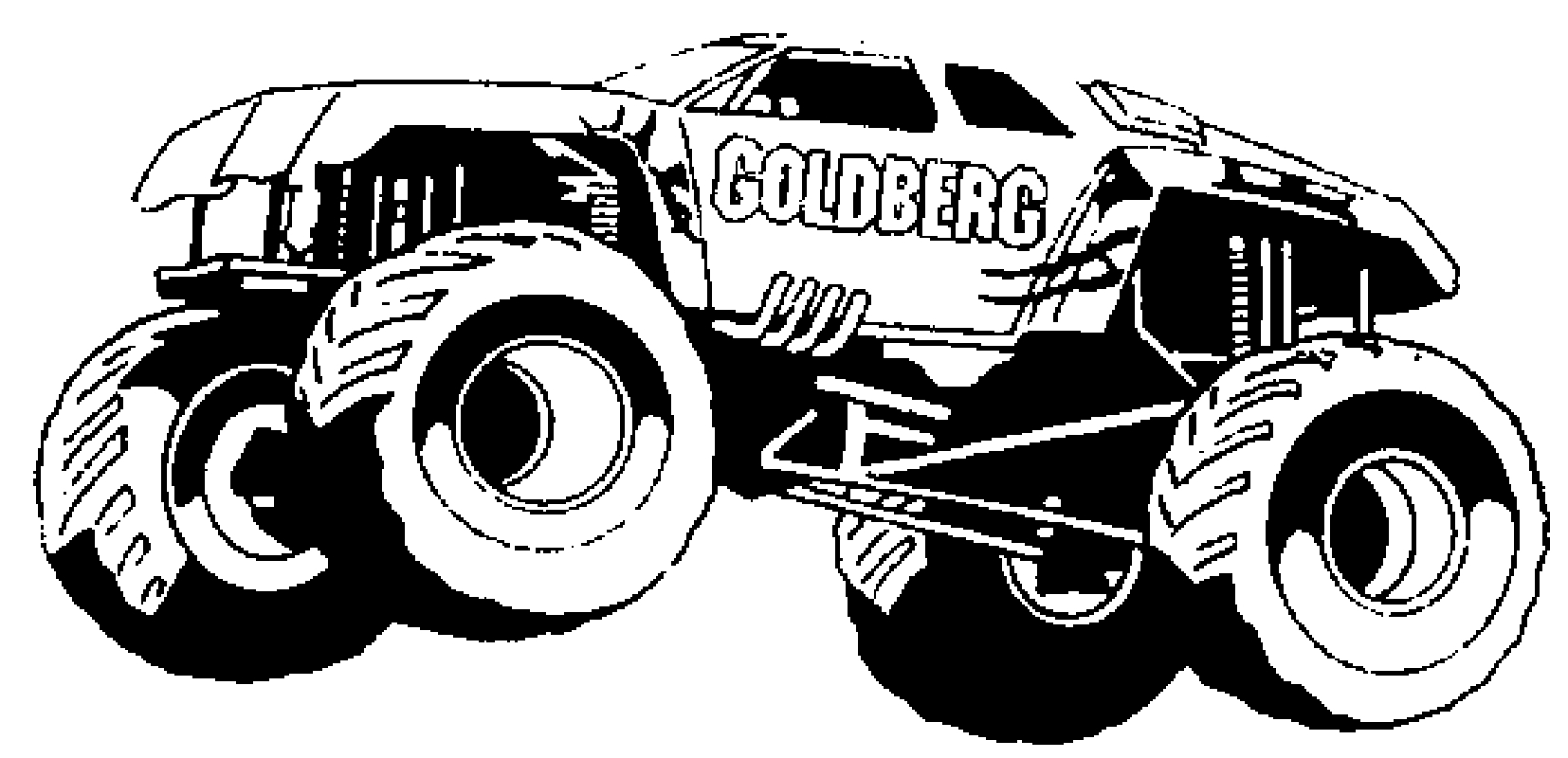 Monster Truck Coloring Page Truck Coloring Pages Big Monster Truck Coloringstar