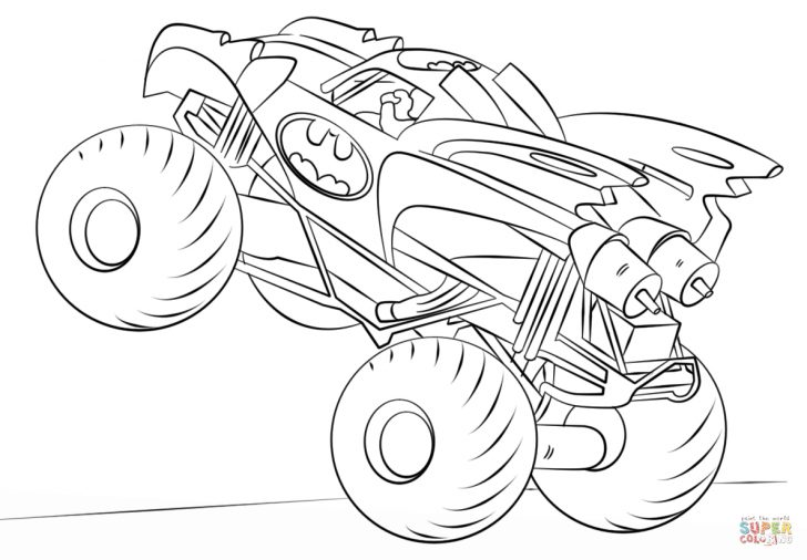 Monster Truck Coloring Pages Batman Monster Truck Coloring Page Free Printable Coloring Pages