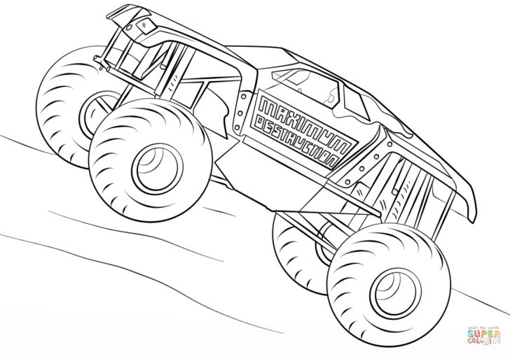 Monster Truck Coloring Pages Cool Race Carring Pages For Kids Monster Truck Printable Blaze Jam