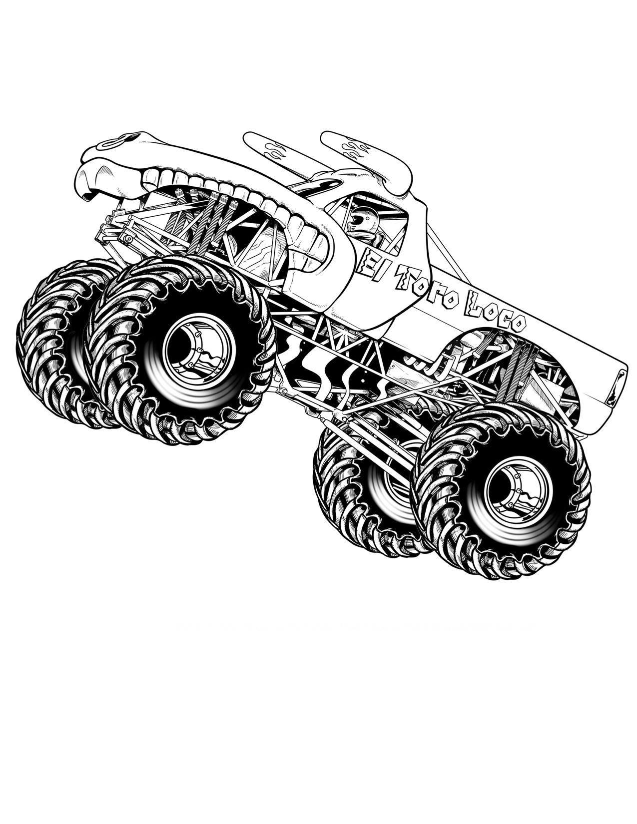 Monster Truck Coloring Pages Free Printable Monster Truck Coloring Pages For Kids