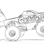 Monster Truck Coloring Pages Grinder Monster Truck Coloring Page Free Printable Pages New To