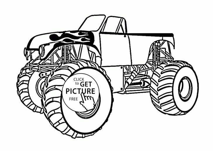 Monster Truck Coloring Pages Monster Truck Coloring Pages For Kids New Monster Truck With An Open