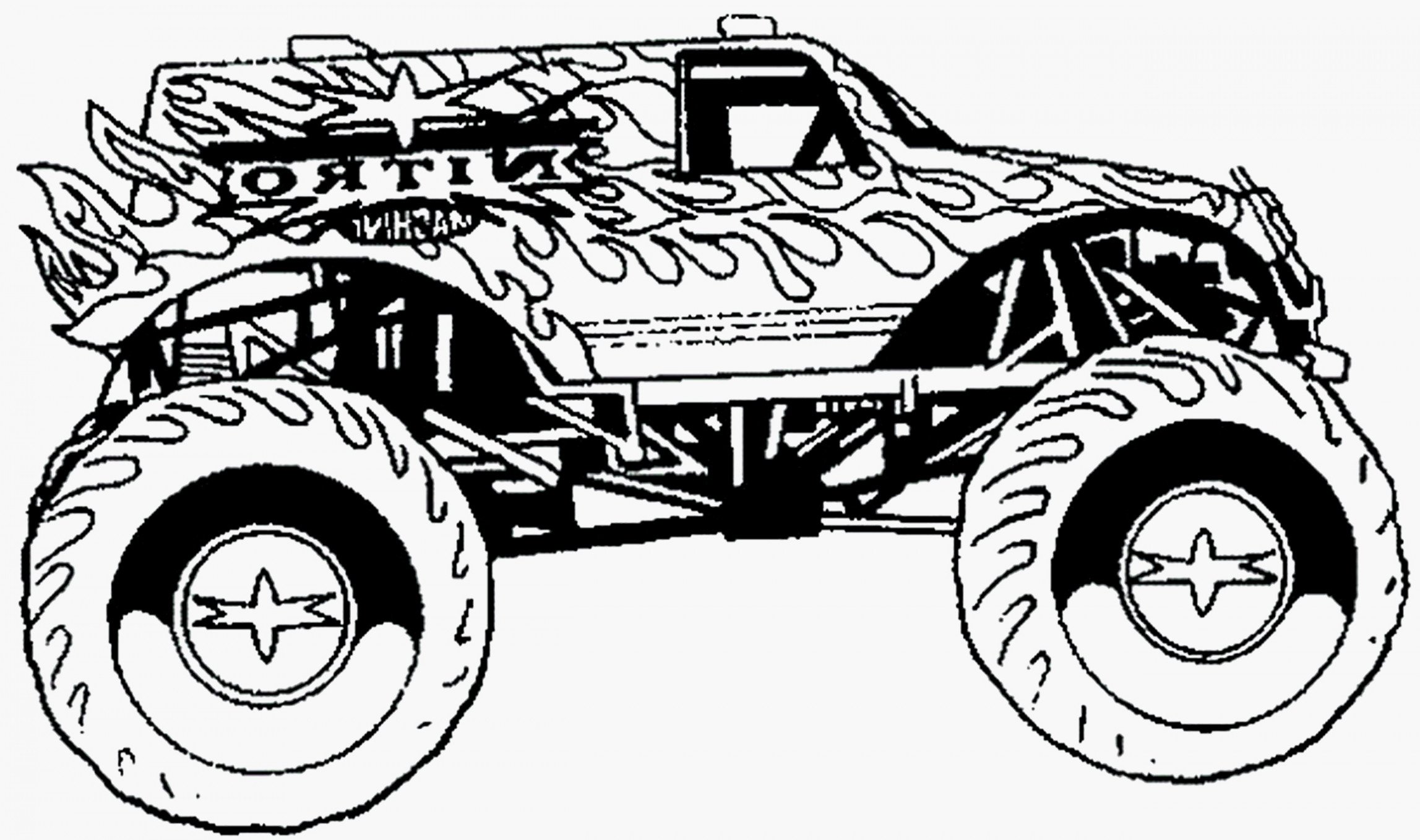Monster Truck Coloring Pages Monster Trucks Coloring Pages Images Of Printable Zachr Page 44