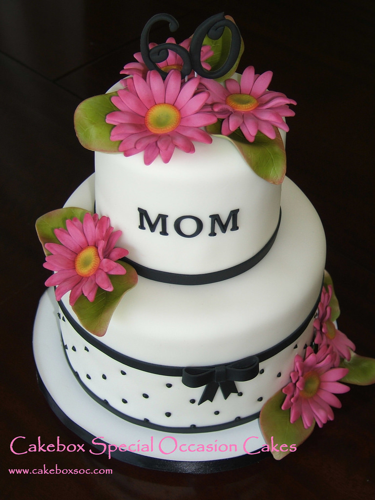Mother Birthday Cake 6 Mothers Day 2 Tier Cakes Photo