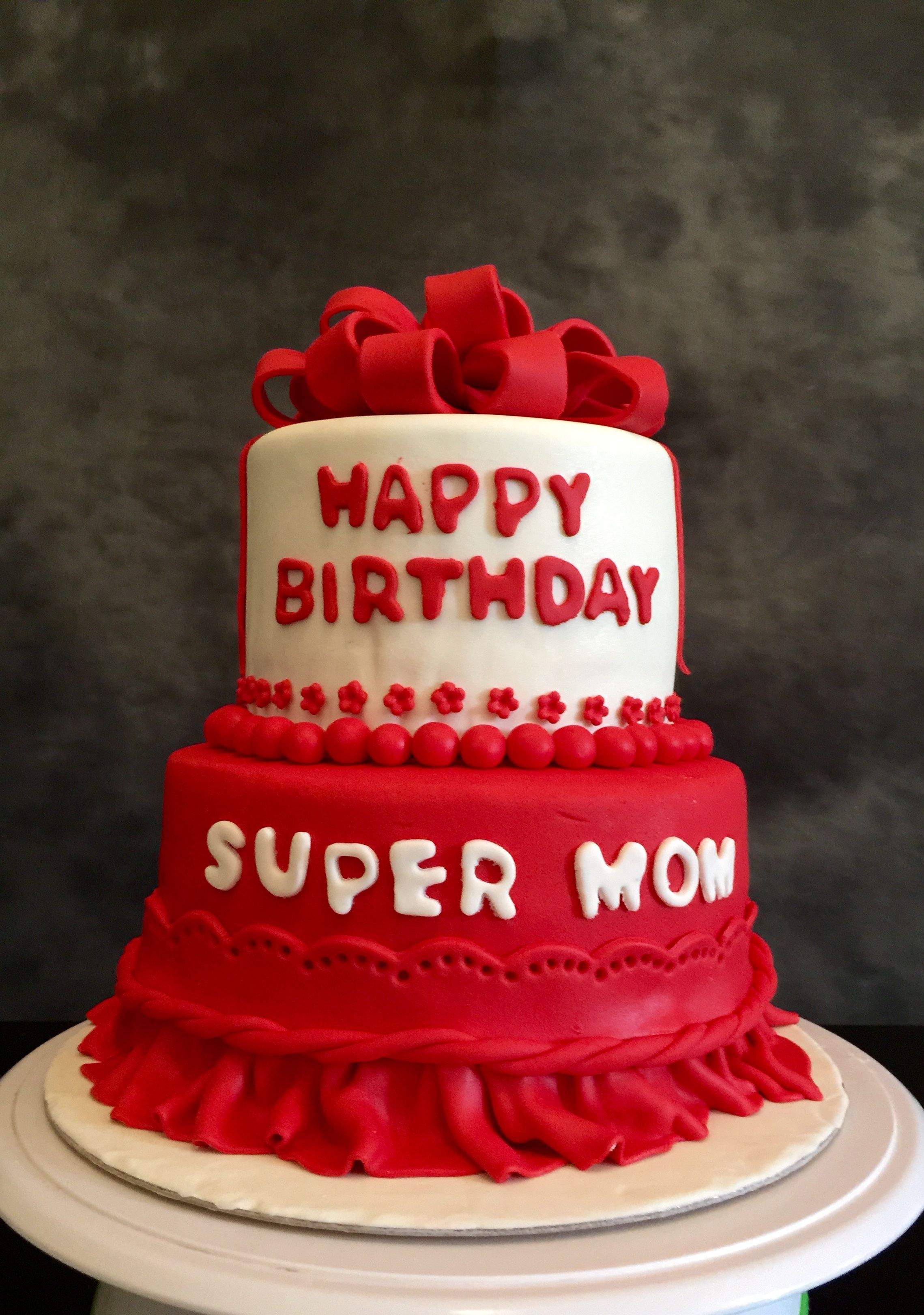 Mother Birthday Cake Super Mom Laila Horany Cakes La Panetteria
