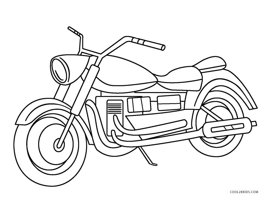 30+ Great Image of Motorcycle Coloring Pages