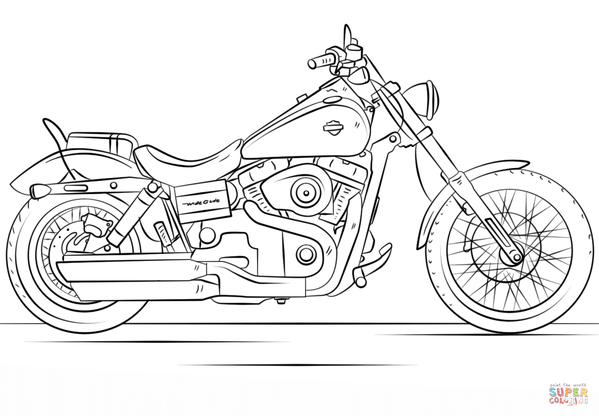 Motorcycle Coloring Pages Harley Davidson Motorcycle Coloring Page Free Printable Coloring Pages