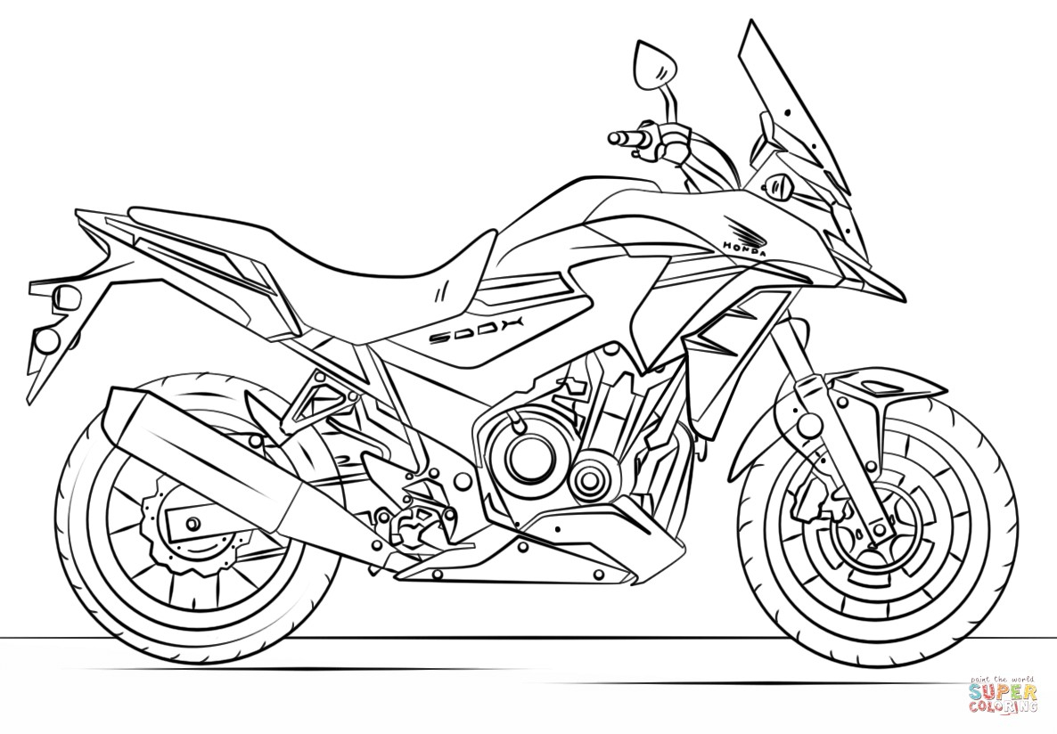 Motorcycle Coloring Pages Motorcycle Color Pages Honda Coloring Page Free Printable 1186824