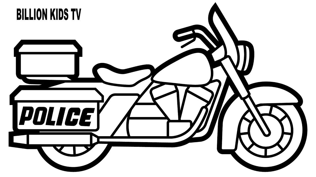 Motorcycle Coloring Pages Police Motorcycle Coloring Pages Printable Free Hoofard