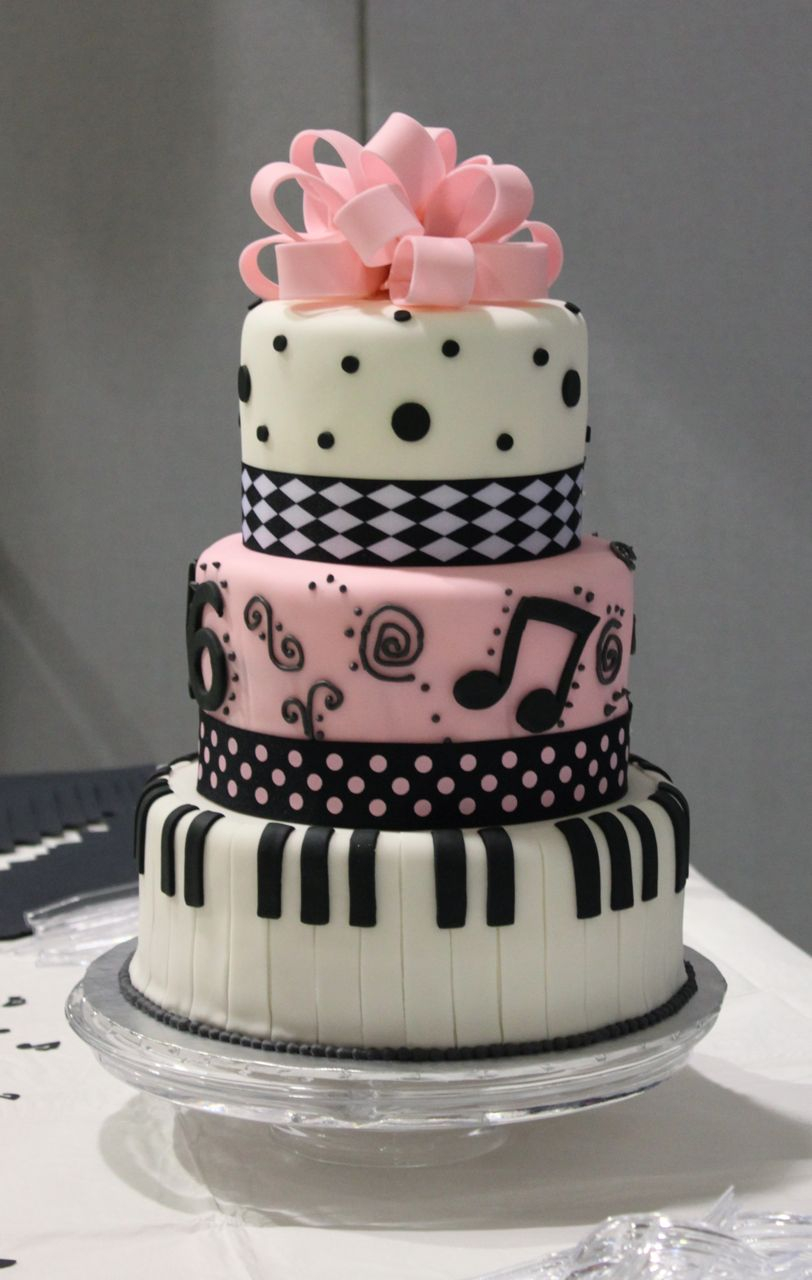 Music Birthday Cakes 12 Pretty Birthday Cakes Music Photo Music Themed Birthday Cake