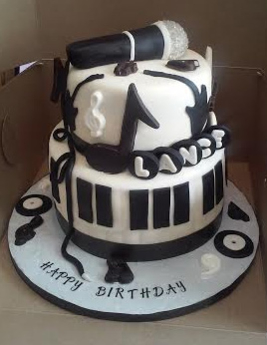 Music Birthday Cakes 2 Tier Music Themed Birthday Cake Cakecentral