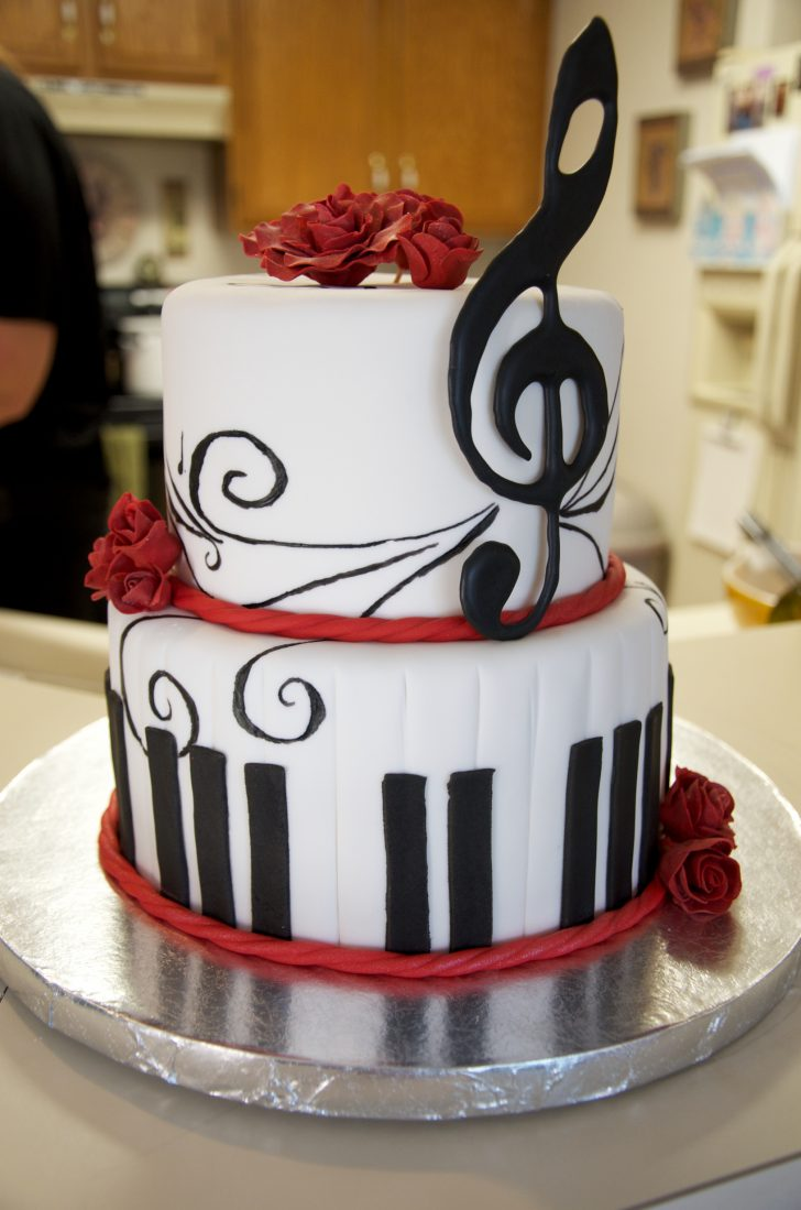 Music Birthday Cakes 9 Birthday Cakes Music Symbols Photo Music Note Birthday Cake Red
